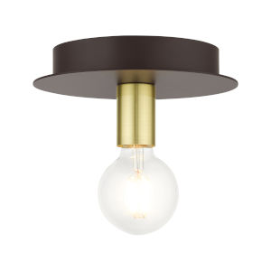 Hillview Bronze One-Light Flush Mount