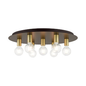 Hillview Bronze Seven-Light Flush Mount
