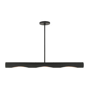 Novato Black Three-Light Linear Chandelier