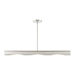 Novato Brushed Nickel Three-Light Linear Chandelier