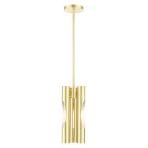 Acra Satin Brass Three-Light Mini Pendant