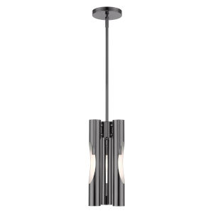 Acra Black Chrome Three-Light Mini Pendant