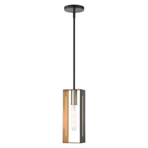 Soma Textured Black with Brushed Nickel Accents One-Light Mini Pendant
