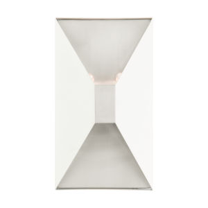 Lexford Textured White Two-Light ADA Wall Sconce