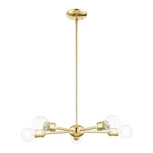 Lansdale Polished Brass Five-Light Chandelier