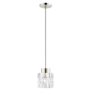 Rotterdam Polished Nickel One-Light Mini Pendant