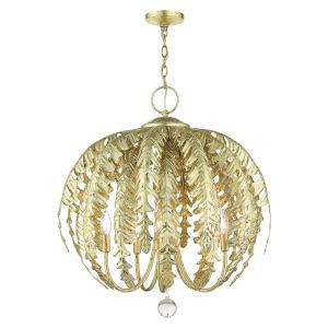 Acanthus Winter Gold Five-Light Chandelier