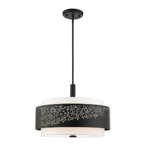 Noria Black Four-Light Chandelier