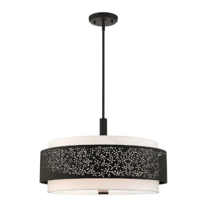 Noria Black Five-Light Chandelier