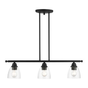 Montgomery Black Three-Light Island Chandelier