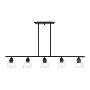 Montgomery Black Five-Light Island Chandelier