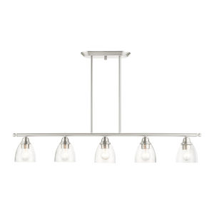 Montgomery Brushed Nickel Five-Light Island Chandelier