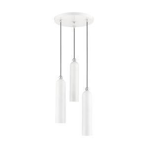 Ardmore Shiny White Three-Light Pendant