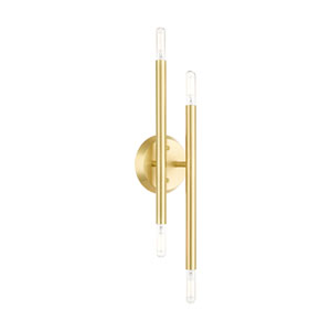Soho Satin Brass Four-Light  Wall Sconce