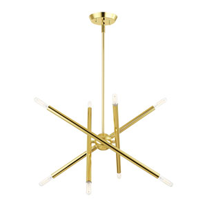 Soho Polished Brass 20-Inch Eight-Light Chandelier