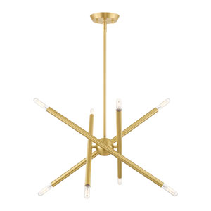 Soho Satin Brass 20-Inch Eight-Light Chandelier