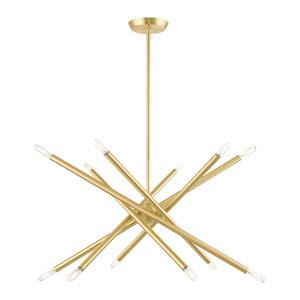 Soho Satin Brass 12-Light Chandelier