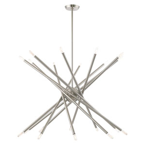 Soho Brushed Nickel 20-Light Chandelier