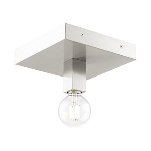 Solna Brushed Nickel One-Light Flush Mount