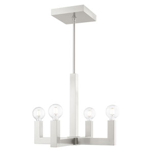 Solna Brushed Nickel Four-Light Chandelier
