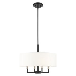 Meridian Black Four-Light Chandelier