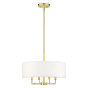 Meridian Satin Brass Four-Light Chandelier