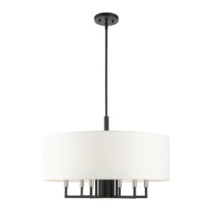 Meridian Black Seven-Light Chandelier