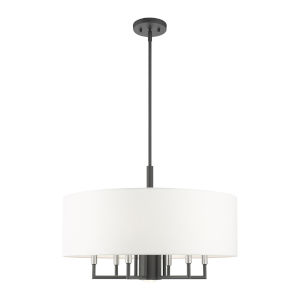 Meridian Scandinavian Gray Seven-Light Chandelier