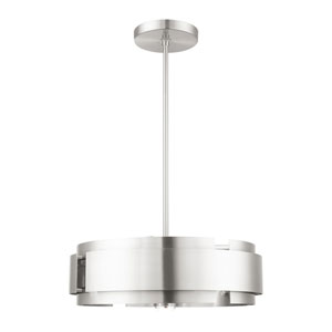 Varick Brushed Nickel Four-Light Pendant