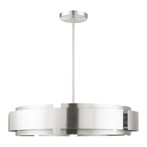 Varick Brushed Nickel Six-Light Pendant