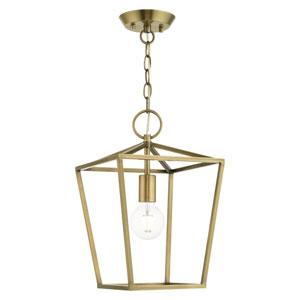 Devonshire Antique Brass One-Light Convertible Pendant