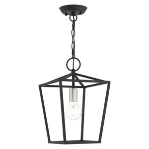 Devonshire Black One-Light Convertible Pendant