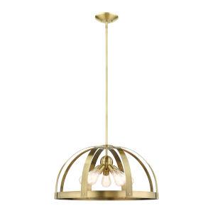 Stoneridge Antique Brass Five-Light Pendant