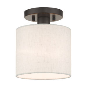 Meadow English Bronze Seven-Inch One-Light Semi-Flush Mount