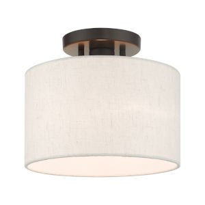 Meadow English Bronze 10-Inch One-Light Semi-Flush Mount