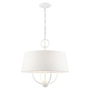 Ridgecrest White Four-Light Chandelier