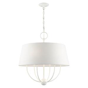 Ridgecrest White Six-Light Chandelier