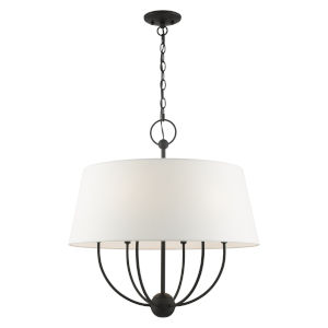 Ridgecrest Black Six-Light Chandelier