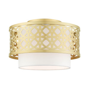 Calinda Soft Gold One-Light Semi-Flush Mount