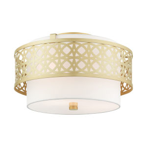 Calinda Soft Gold Three-Light Semi-Flush Mount