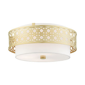 Calinda Soft Gold Four-Light Semi-Flush Mount