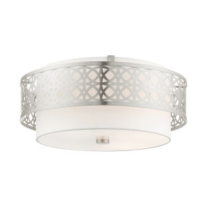 Calinda Brushed Nickel Four-Light Semi-Flush Mount