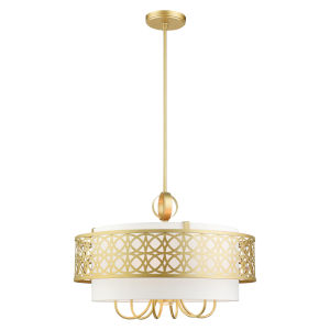 Calinda Soft Gold Seven-Light Chandelier