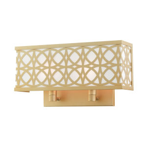 Calinda Soft Gold 15-Inch Two-Light ADA Wall Sconce