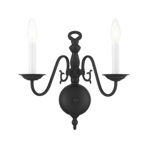 Williamsburg Black Two-Light Wall Sconce
