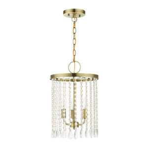 Elizabeth Antique Brass Three-Light Chandelier