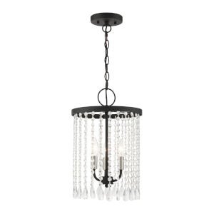 Elizabeth Black Three-Light Chandelier