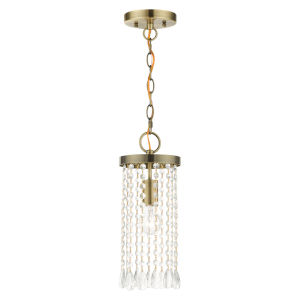 Elizabeth Antique Brass One-Light Mini Pendant