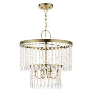 Elizabeth Antique Brass Four-Light Chandelier