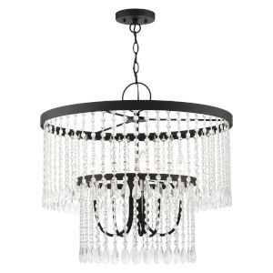 Elizabeth Black Five-Light Chandelier